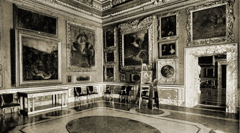 Saturn Hall Pitti Palace Florence Italy about 1892