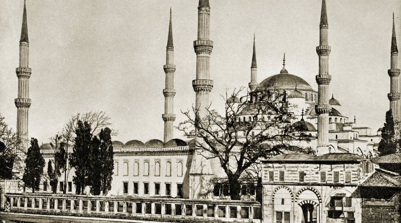 Sultan Ahmed Mosque Istanbul Turkey about 1892