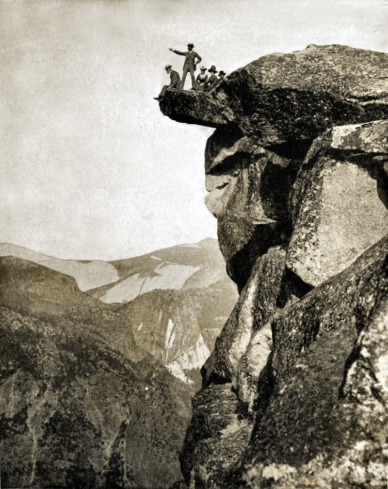 Glacier Point, Yosemite Valley, California, USA about 1892