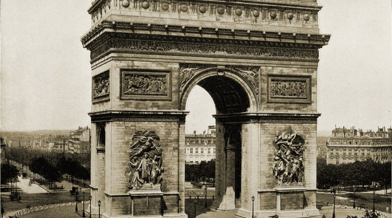Arc de Triomphe Paris about 1892