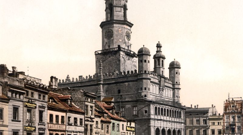 Court House and Old Market Poznan Poland 1895