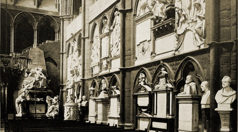 Poets' Corner Westminster Abbey London 1892