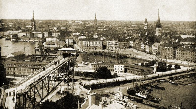 Stockholm Panorama Sweden about 1892