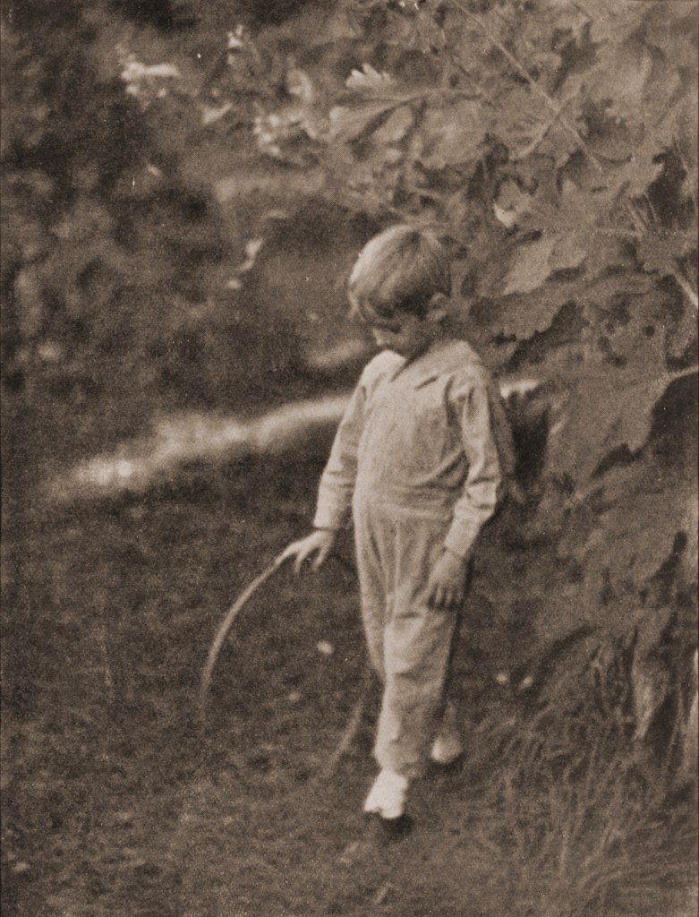 Boy with hoop by Mary Allen about 1908