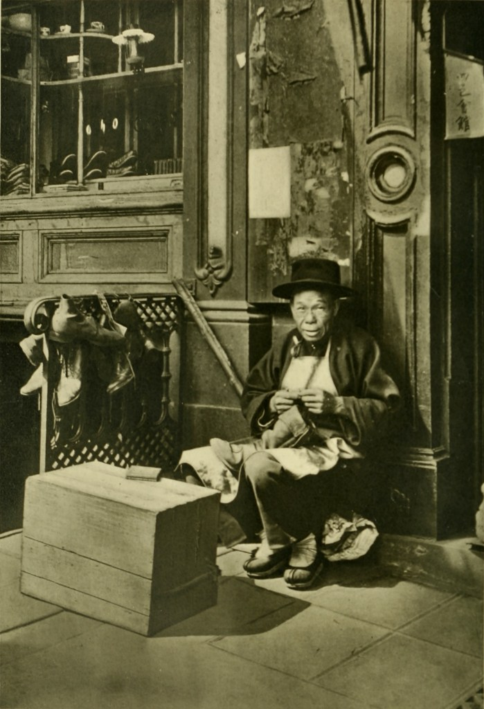 The cobbler by Charles Weidner about 1900