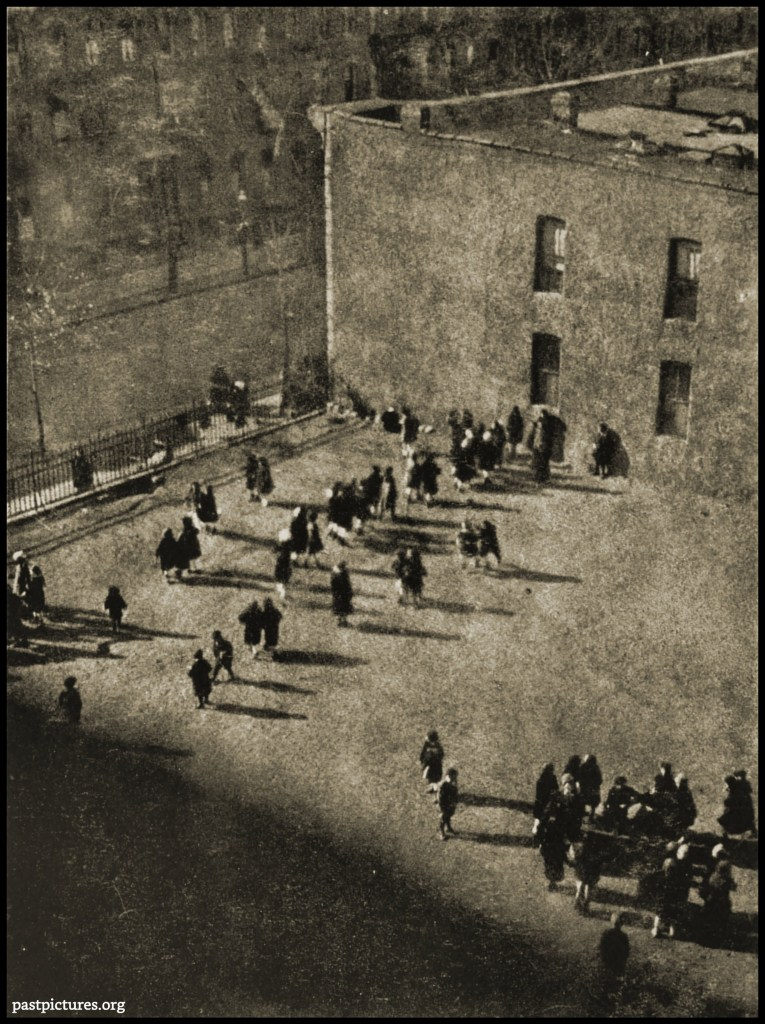 The School Yard by Vernon E. Duroe about 1922