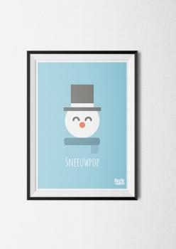 poster winter sneeuwpop sneeuw