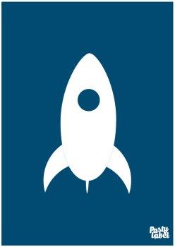 raket-poster-blauw