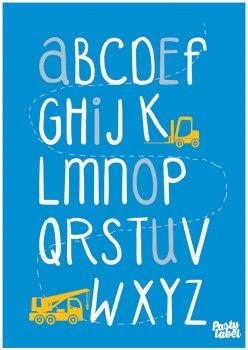 kinderkamerposter-alfabet-blauw