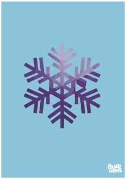 poster-kinderkamer-frozen-sneeuwvlok