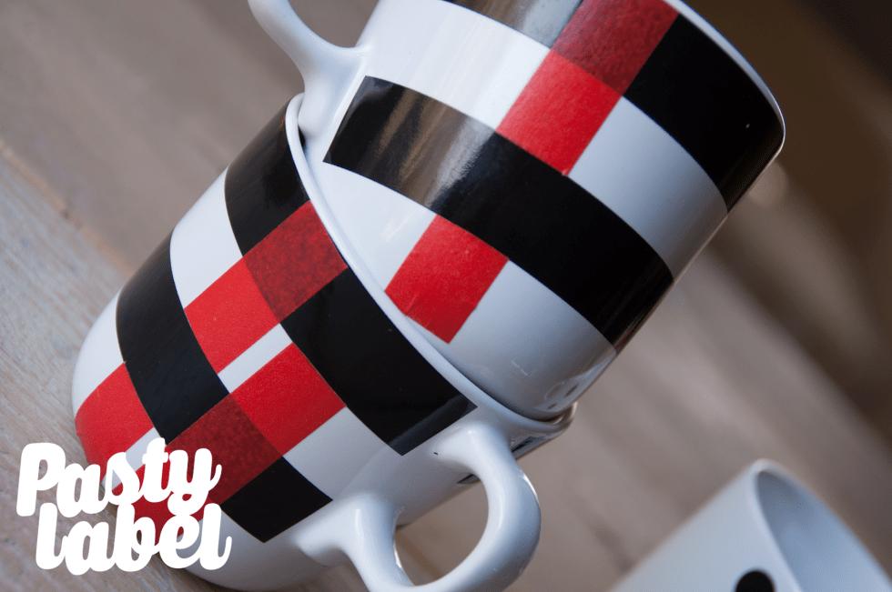 washi tape doe het zelf servies design