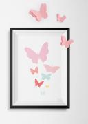 poster-vlinder-3D-kinderkamer