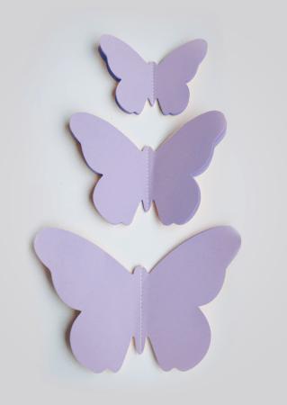 3D muurdecoratie vlinder muursticker vlinder vlindersticker lila
