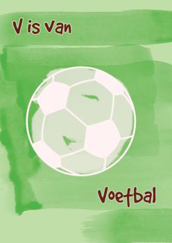 poster-kinderkamer-voetbal-waterverf