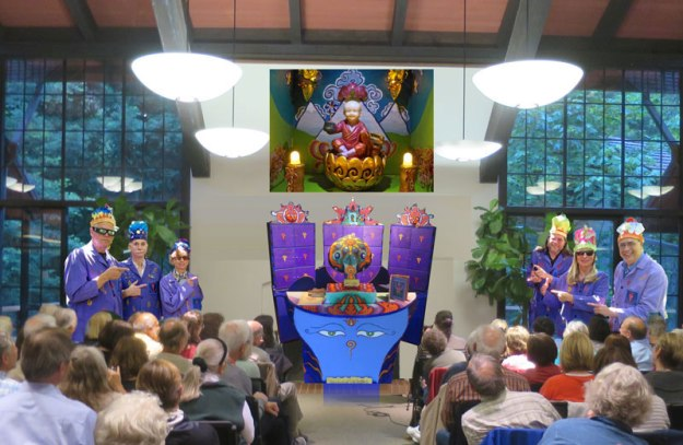 Join us for the world premiere of the 'Pataphysical Slot Machine on October 2nd at the Mill Valley Library, as shown in this artist rendering.
