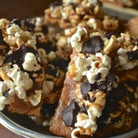 Popcorn Toffee Crack Bars