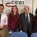 El alcalde, Juan Antonio Sagredo durante su visita al CEEI