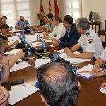 Instante de la reunión de la Junta de Seguridad celebrada esta mañana