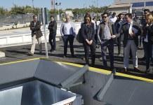 Instante de la inauguración del ecoparque en Paterna