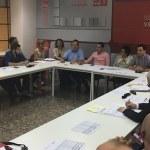 Instante de la reunión del PSPV