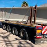 Imagen del camión que daño el túnel de Fuente del Jarro