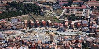 Vista aérea de los terrenos militares de Paterna