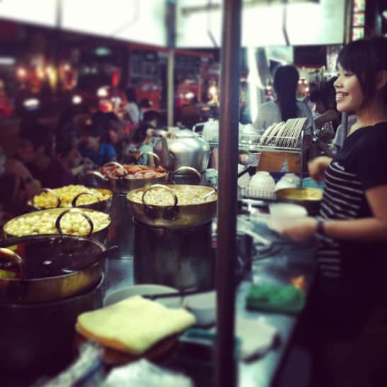 The author's introduction to a Bangkok night market.  © Ashley Weinberger, expatbeeffat