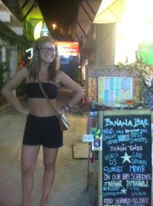 The author, Kate, at her bar on Koh Phi Phi, Thailand. © Kate Repetto, Travels with Kate.