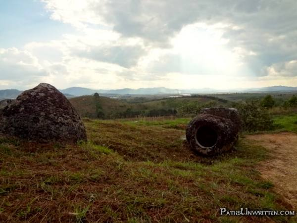 Light  The Plain of Jars Site 1, my final stop over a hellishly adventurous day of exploring ancient ruins amidst active minefields . . .
