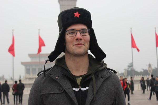 The author in Beijing. © Kevin Cook, Monkey Abroad
