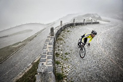 Road biking on the San Gotthard Pass