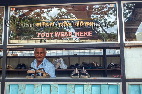 Depot near a temple in Sri Lanka where visitors leave their shoes temporaririly