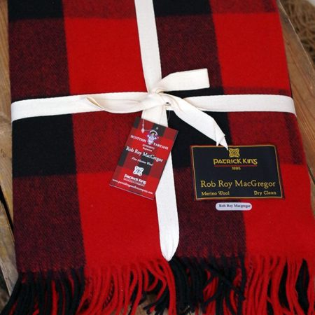 Rob Roy Highland deluxe merino wool blanket