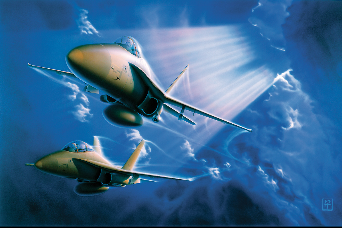 Aviation art, Through The Storm, from Pat Turner