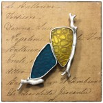 Brooch 960 silver and Resin by Patrik Kusek