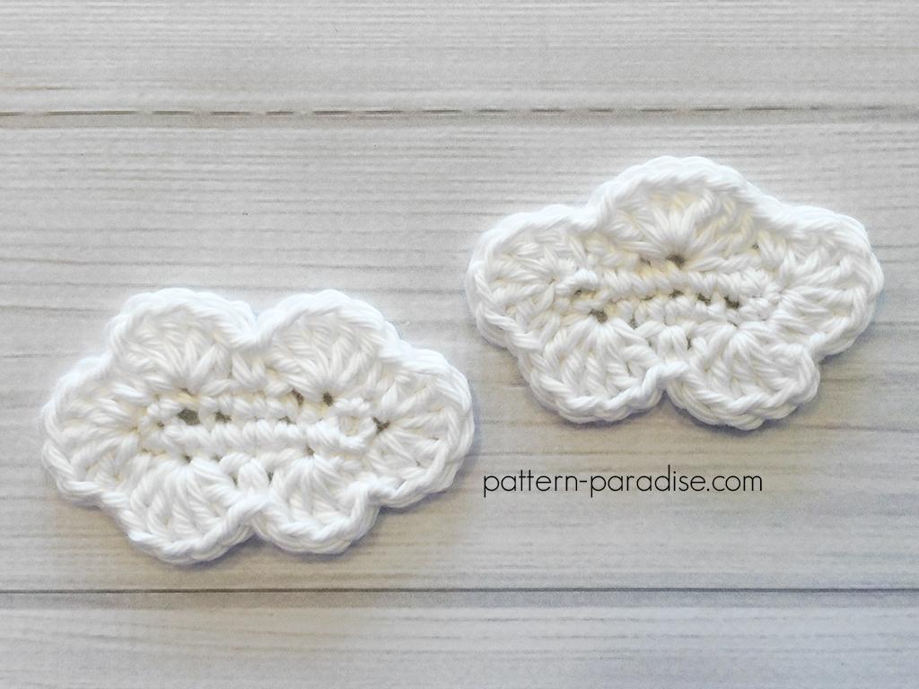 Free Crochet Pattern Cloud Applique Pattern Paradise