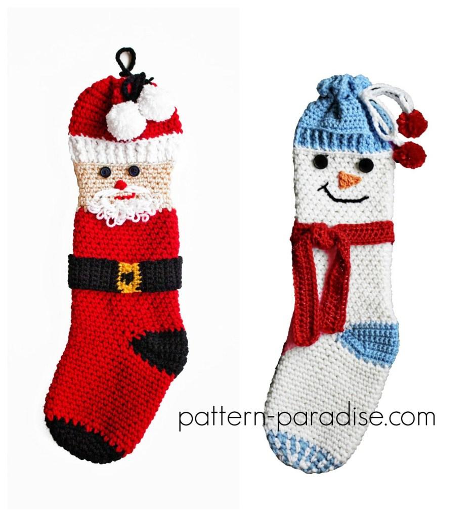 Crochet Pattern: Holiday Friends Stocking