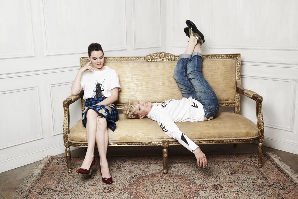 Chantal Ladesou et Clemence Ansault