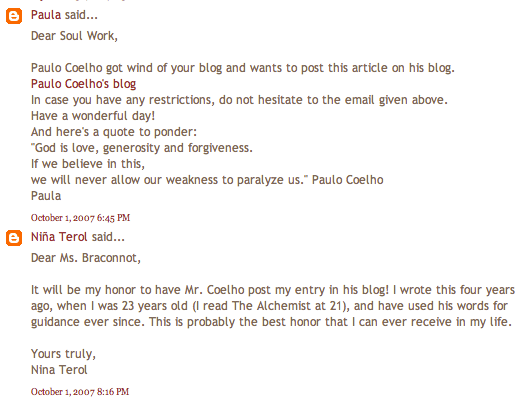 Five Years in Paulo Coelho's blog