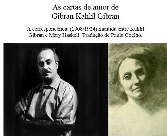 Cartas de amor de Khalil Gibran (O Profeta)