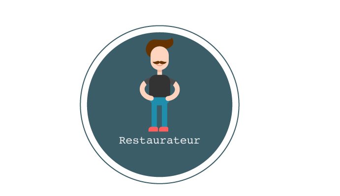 Illustration of a restaurateur as part the discussion around tipping in UK restaurants