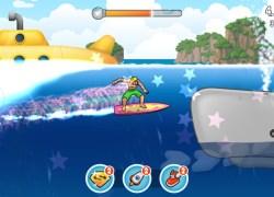 Surfy whale