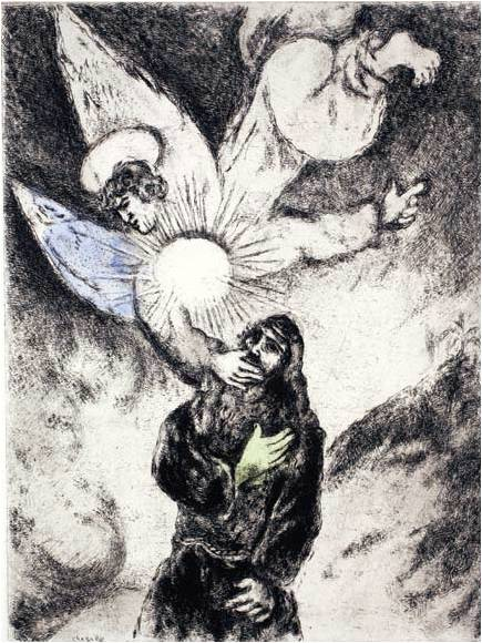Jeremiah Receiving the Gift of Prophecy CHAGALL (1957)