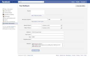 Changing your Facebook profile information