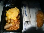 breakfast on United economy international to san francisco