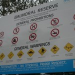 the Australian nanny state is shown in signs at balmoral beach