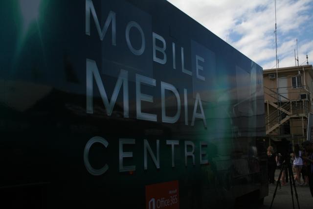 V8 supercars mobile facility at tasmanian launceston grand prix