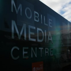 V8 supercars mobile facility at tasmanian launceston grand prix