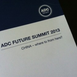 cover of ADC China Forum program