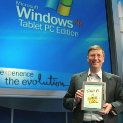 MIRCORSOFT'S BILL GATES LAUNCHES THE TABLET PC
